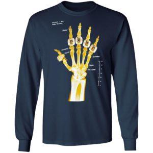 Kobe Bryant hand gold rings x-ray T-shirt, LS, Hoodie