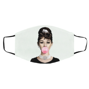 Audrey Hepburn Bubble Gum Face Mask