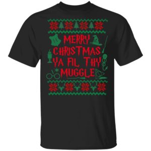 Merry Christmas Ya Filthy Muggle Harry Potter Movie Ugly Christmas Sweater, Long Sleeve
