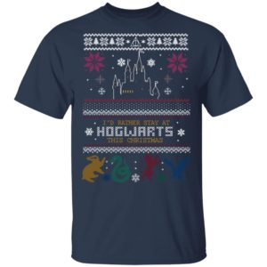 Id Rather Stay At HOGWARTS This Christmas Harry Potter Ugly Christmas Sweater, Long Sleeve