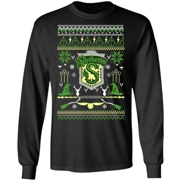 Harry Potter Slytherin Ugly Christmas Sweater, Long Sleeve