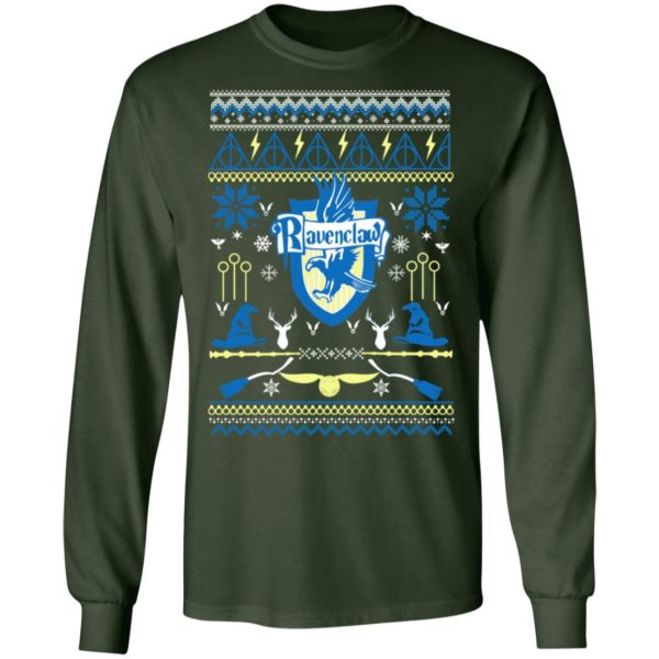 Harry Potter Ravenclaw Ugly Christmas Sweater, Long Sleeve