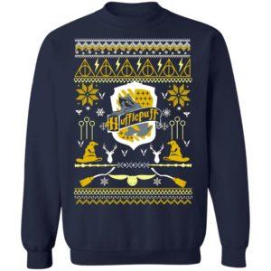 Harry Potter Hufflepuff Ugly Christmas Sweater, Long Sleeve