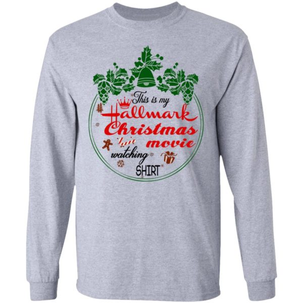 This Is My Christmas Movie Watching Shirt, Long Sleeve
