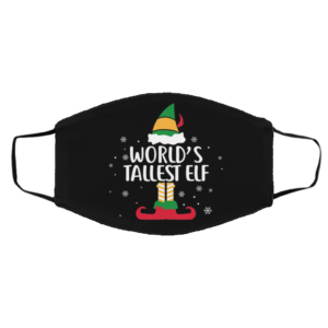 World's Tallest Elf Christmas Face Mask