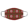 UGLY CHRISTMAS SWEATER Red Pattern Face Mask