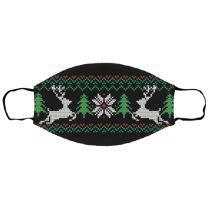 UGLY CHRISTMAS SWEATER Pattern Face Mask