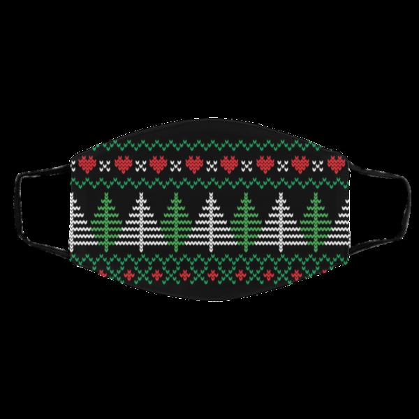 Ugly Christmas Sweater Seamless Pattern Face Mask