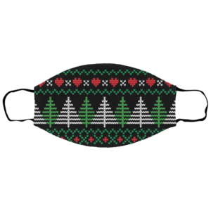 Ugly Christmas Sweater Seamless Pattern Face Mask