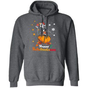 Jack Skellington Santa Hat Happy Hallothanksmas T-Shirt