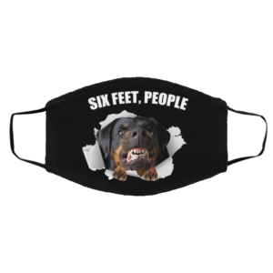 Rottweiler-Six Feet, People Face Mask