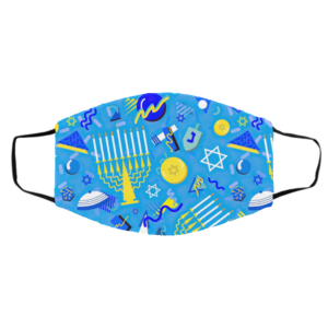 Postmodern Hanukkah Celebration Face Mask