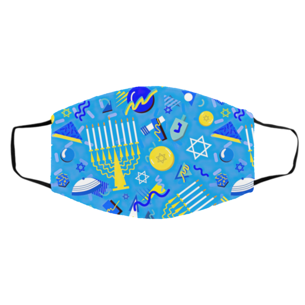 Postmodern Hanukkah Celebration Face Mask