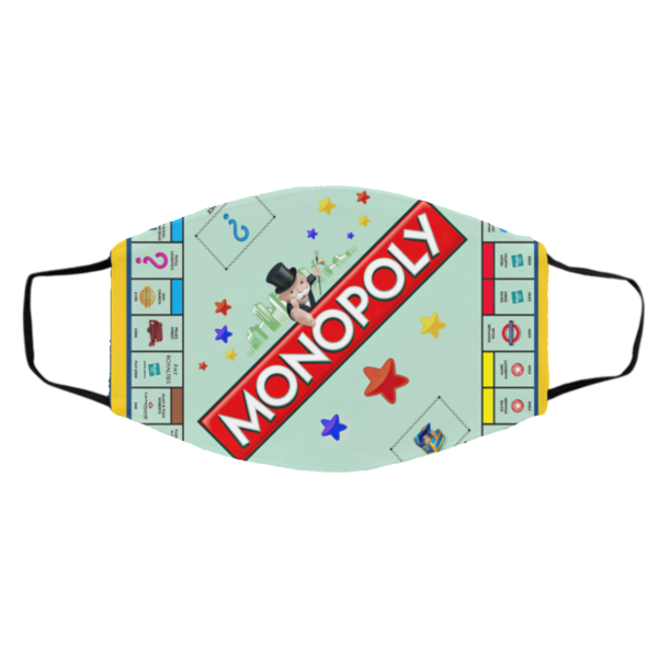Monopoly Board Game Face Mask