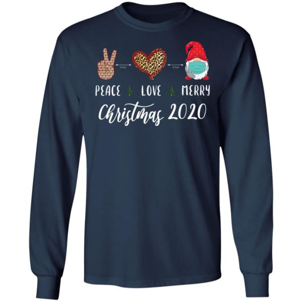 Peace love Merry Christmas 2020 quarantine gnome mask Shirt