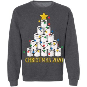 Christmas Tree Toilet Paper Merry Quarantine Shirt, Long Sleeve