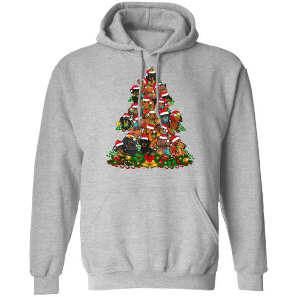 Dachshund Xmas Tree Dachshunds Christmas Tree Shirt