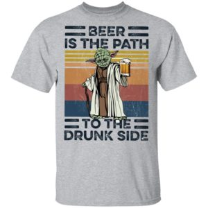 Master Yoda Beer Is The Path To The Drunk Side Vintage T-Shirt