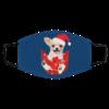 Santa Chihuahua Dog Merry Christmas face mask