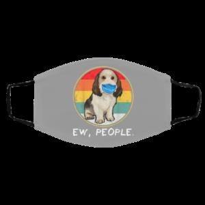 Ew People Petit Basset Griffon Vendeen Dog Wearing Face Mask