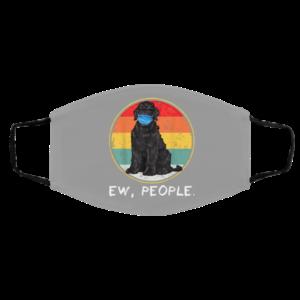 Ew People Black Russian Terrier Dog Wearing Face Mask