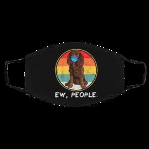 Ew People American Water Spaniel Dog Wearing Face Mask