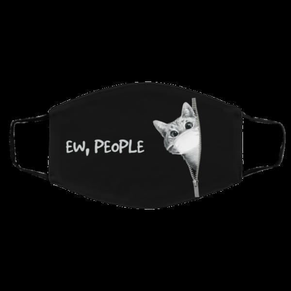 Cat Zipper Ew People Reusable Face Mask