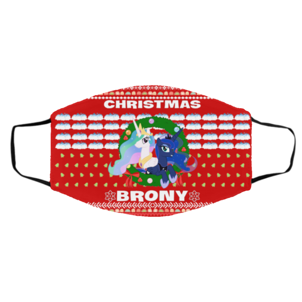 Christmas Brony Ugly Christmas Face Mask