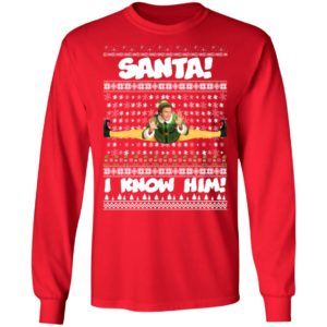 Santa I Know Him Buddy Elf Ugly Christmas Sweater