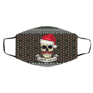Santa Skull Ugly Christmas Face Mask