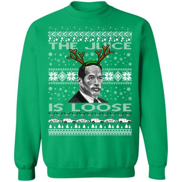 The Juice Is Loose OJ Parody Ugly Christmas Sweater