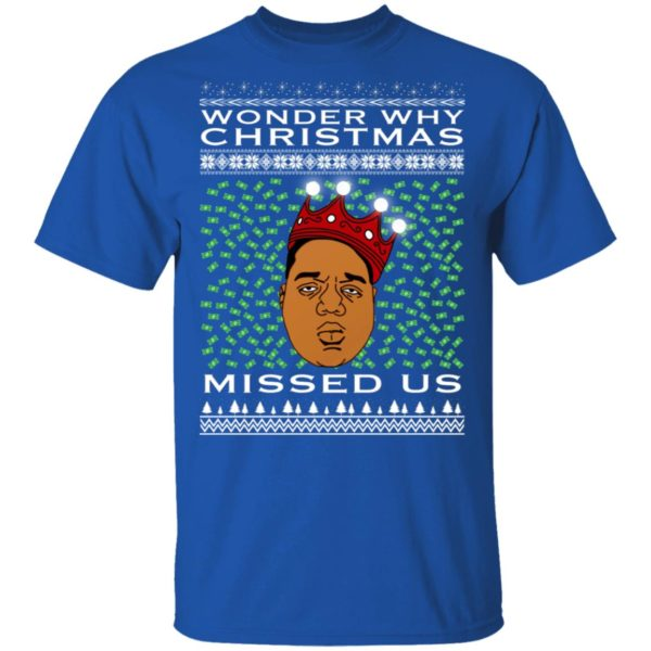 Wonder Why Christmas Missed Us Notorious BIG Ugly Christmas Sweater