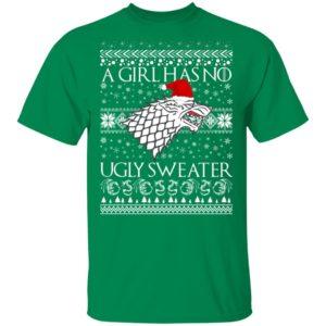 A Girl Has No Ugly Sweater Arya Stark GoT Ugly Christmas Sweater