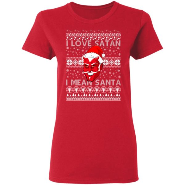 I Love Satan I Mean Santa Evil Devil Ugly Christmas Sweater