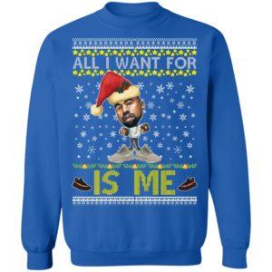All I Want For Christmas Is Me Kanye West Yeezy Yeezus Ugly Christmas Sweater