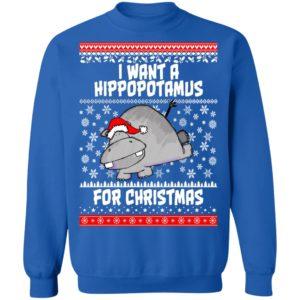 I Want A Hippopotamus For Christmas Ugly Christmas Sweater