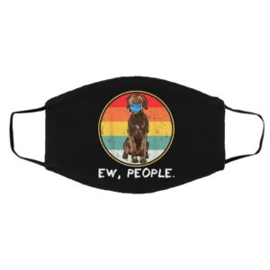 Ew People Wirehaired Pointing Griffon Dog Wearing Face Mask