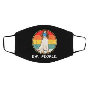 Ew People Welsh Springer Spaniel Dog Wearing Face Mask