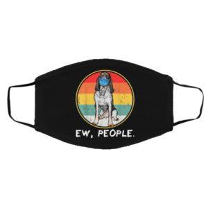 Vintage Ew People Bluetick Coonhound Dog Wearing Face Mask
