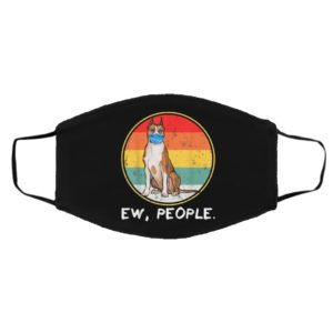 Ew People USA Staffordshire Terrier Dog Wearing Face Mask