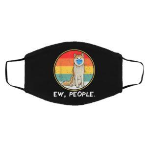 Vintage Ew People Akita Dog Wearing Face Mask