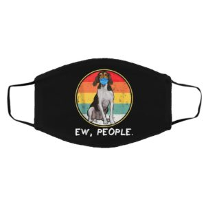 Ew People Treeing Walker Coonhound Dog Wearing Face Mask