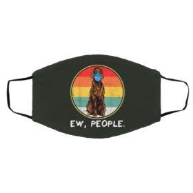 Vintage Ew People Irish Setter Dog Wearing Face Mask