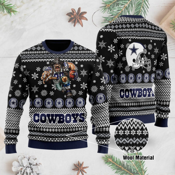 Dallas Cowboys 3D Printed Ugly Christmas Sweater
