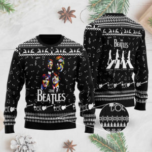 The Beatles Band 3D Printed Ugly Christmas Sweater