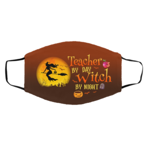 Teacher By Day Witch By Night Halloween Face Mask