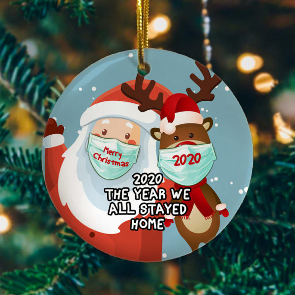 2020 the Year We All Stayed Home Quarantined Decorative Christmas Ornament - Funny Holiday Gift