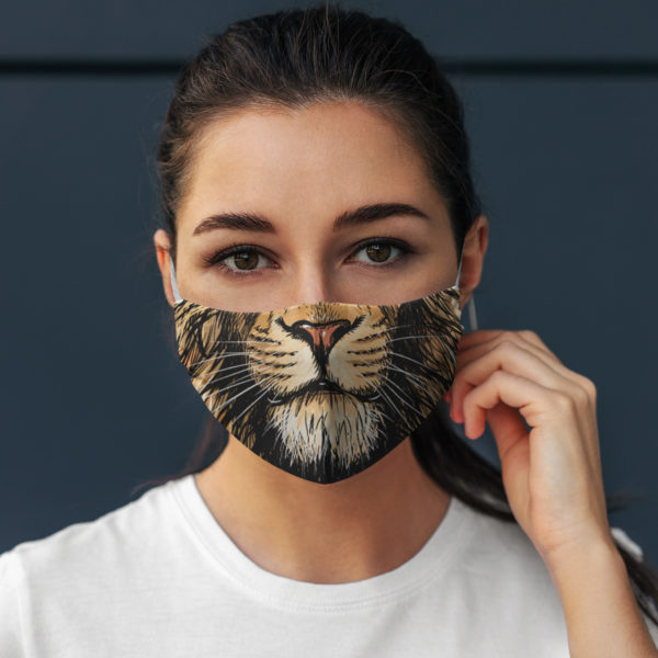 Lion Mouth Big Cat Skull Mask Face Mask