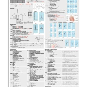 ECG Cheat Sheet Cardiologist Poster, Canvas