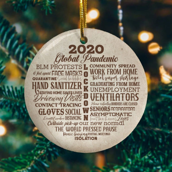 2020 Lock Down Decorative Christmas Ornament - Funny Holiday Gift